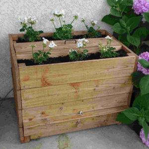 jardinière lombricomposteur en bois